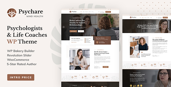 Psychare - WordPress Theme for Psychologists amp Life Coaches TFx ThemeFre