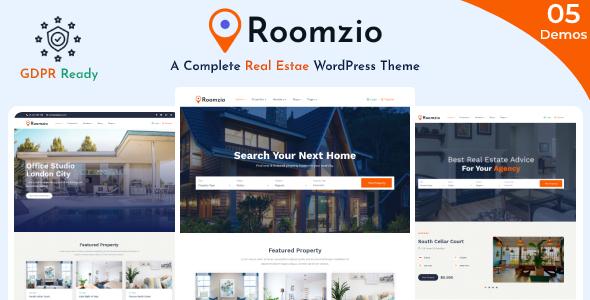 Roomzio - Real Estate WordPress Theme TFx ThemeFre