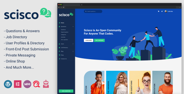 Scisco - Questions and Answers WordPress Theme TFx ThemeFre