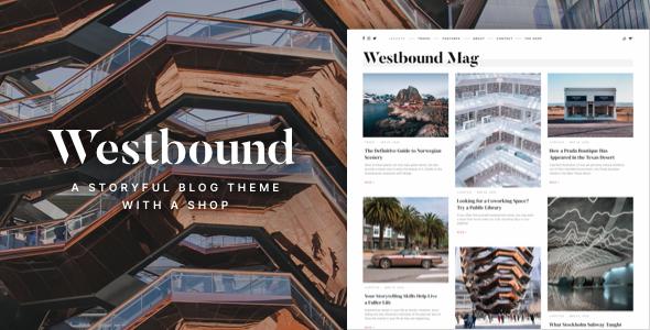 Westbound  A Storyful WordPress Blogging Theme TFx ThemeFre