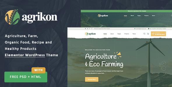 Agrikon - Organic Farm Agriculture WordPress Theme TFx ThemeFre