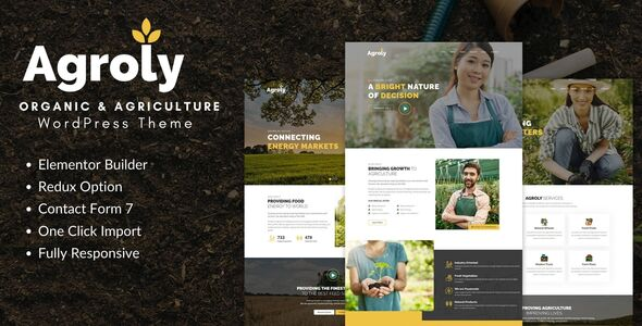 Agroly - Organic amp Agriculture Food WordPress Theme TFx ThemeFre