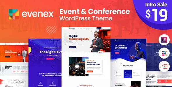 Evenex Event Conference WordPress Theme TFx ThemeFre