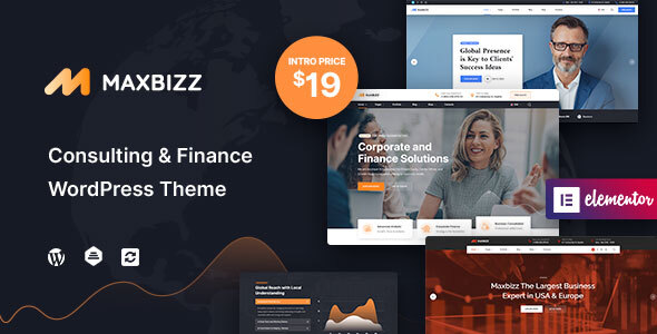 Maxbizz - Consulting amp Financial Elementor TFx ThemeFre