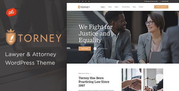 Torney - Lawyer amp Attorney Theme TFx WordPress ThemeFre