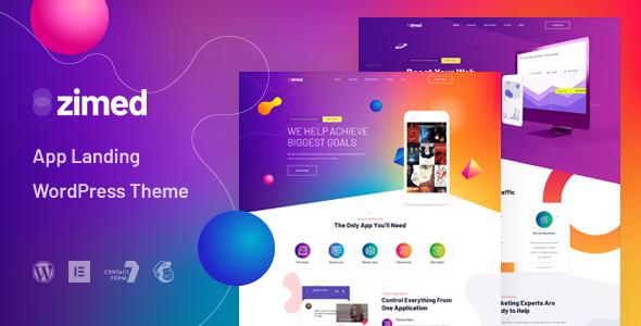 Zimed - App Landing WordPress Theme TFx ThemeFre