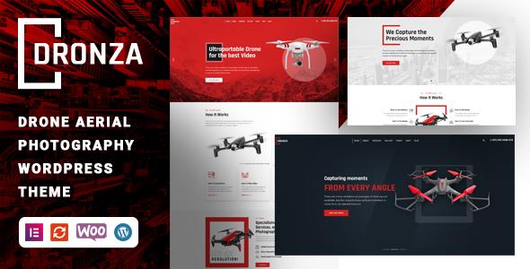 Dronza  Drone Aerial Photography WordPress Theme TFx ThemeFre