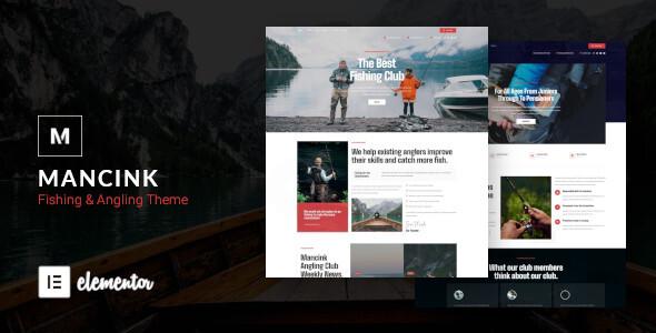 Mancink - Fishing amp Angling WordPress Theme TFx ThemeFre