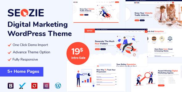Seozie - SEO amp Digital Marketing WordPress Theme TFx ThemeFre