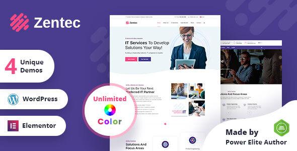 Zentec - IT Solutions Company WordPress Theme TFx ThemeFre