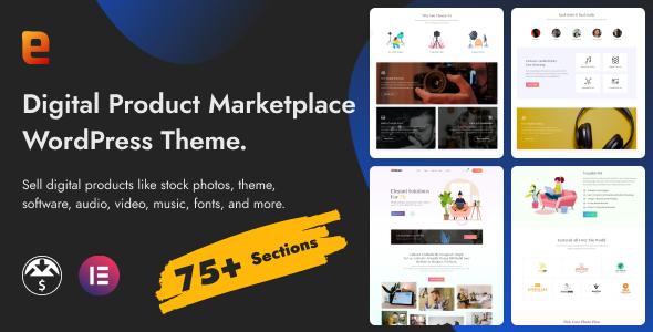 Eidmart  Digital Marketplace WordPress Theme TFx ThemeFre