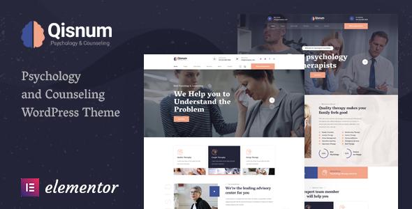 Qisnum - Psychology amp Counseling WordPress Theme TFx ThemeFre