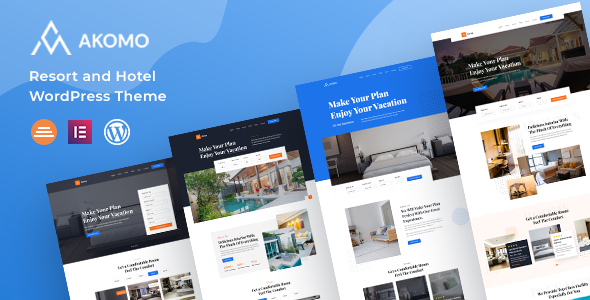 Akomo  Resort and Hotel WordPress Theme TFx ThemeFre