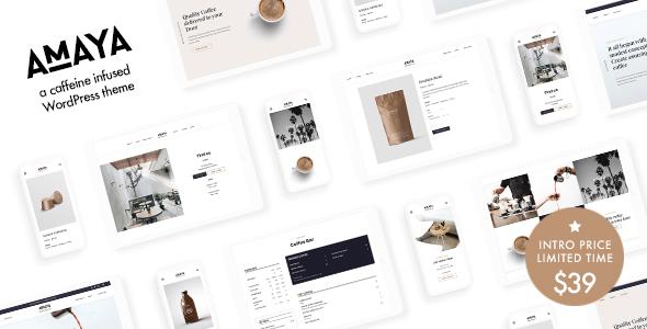 Amaya - Coffee Shop WordPress Theme TFx ThemeFre