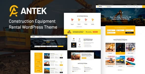 Antek - Construction Equipment Rentals WordPress Theme TFx ThemeFre