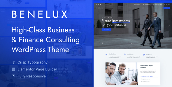Benelux - Business amp Finance Consulting WordPress Theme TFx ThemeFre