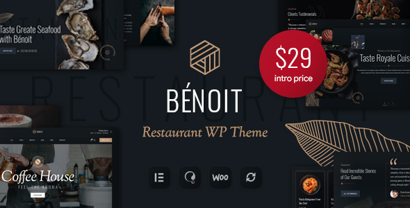 Benoit - Restaurants amp Cafes WordPress Theme TFx ThemeFre