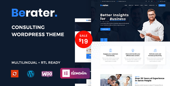 Berater - Consulting WordPress Theme TFx ThemeFre