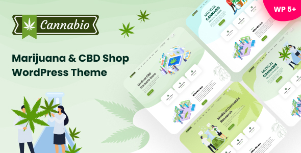 Cannabio - Marijuana and Cannabis WordPress Theme TFx ThemeFre