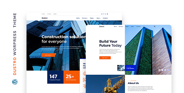 Dustro  Construction Company WordPress Theme TFx ThemeFre