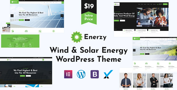 Enerzy - Wind amp Solar Energy WordPress Theme TFx ThemeFre