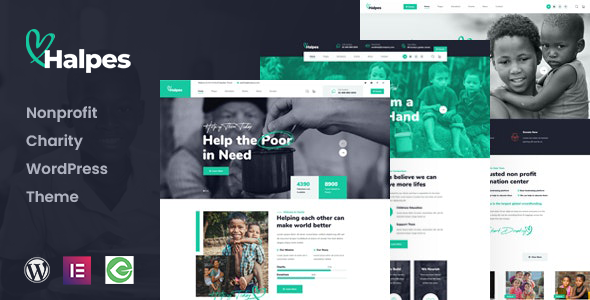 Halpes - Nonprofit Charity WordPress Theme TFx ThemeFre