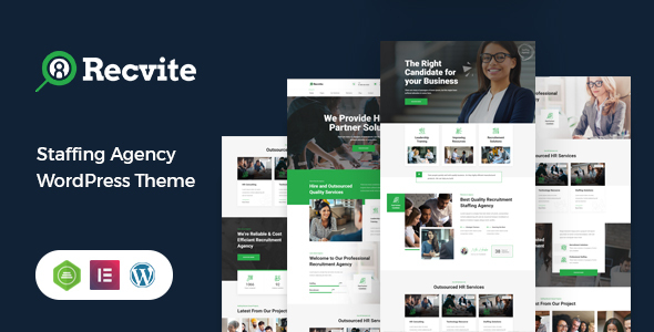 Recvite - Staffing Agency WordPress Theme TFx ThemeFre
