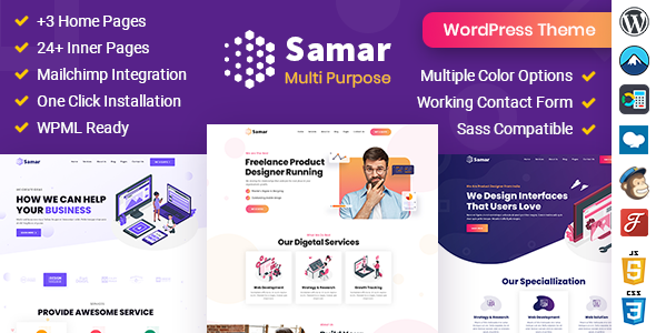 Samar  Creative Agency WordPress Theme TFx ThemeFre
