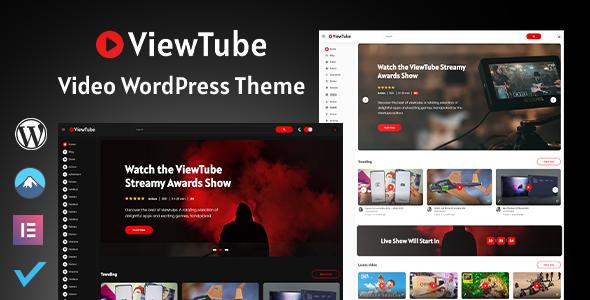ViewTube  Video WordPress Theme TFx WordPress ThemeFre