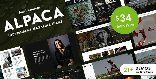 Alpaca - Independent Magazine WordPress Theme TFx ThemeFre