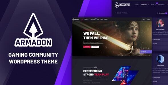 Armadon - Gaming Community WordPress Theme TFx ThemeFre