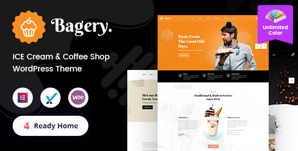 Bagery - Ice Cream Shop WordPress Theme TFx ThemeFre