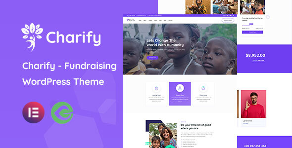 Charify - Fundraising amp Donation WordPress Theme TFx ThemeFre