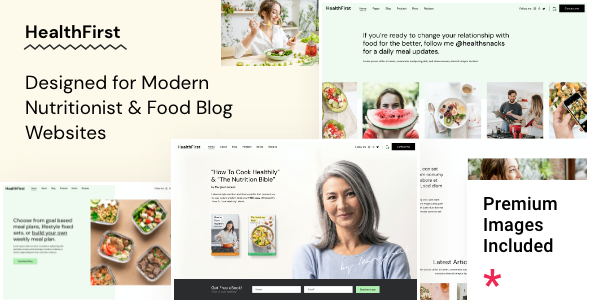 HealthFirst - Nutrition and Recipes Theme TFx ThemeFre