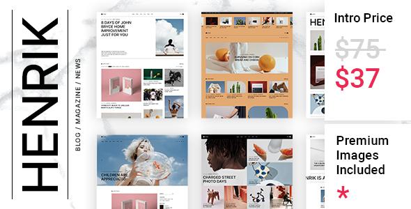 Henrik - Creative Magazine Theme TFx WordPress ThemeFre