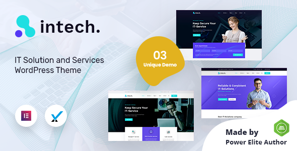 Intech - IT Solutions Company WordPress Theme TFx ThemeFre