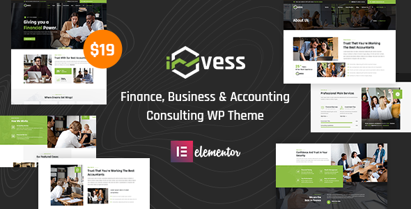 Invess - Accounting amp Finance Consulting WordPress Theme TFx ThemeFre