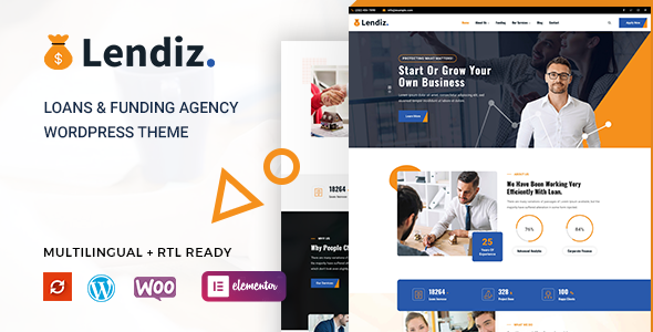 Lendiz - Loan amp Funding Agency WordPress Theme TFx ThemeFre