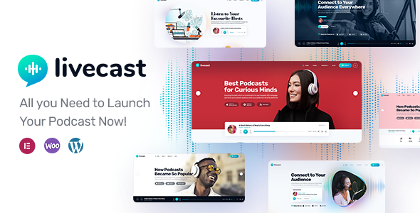 Livecast - Podcast Theme TFx WordPress ThemeFre