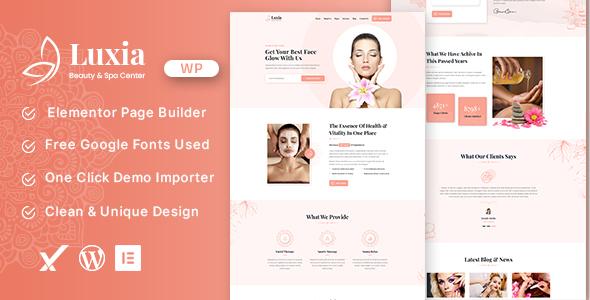 Luxia Beauty amp Spa Center WordPress Theme TFx ThemeFre