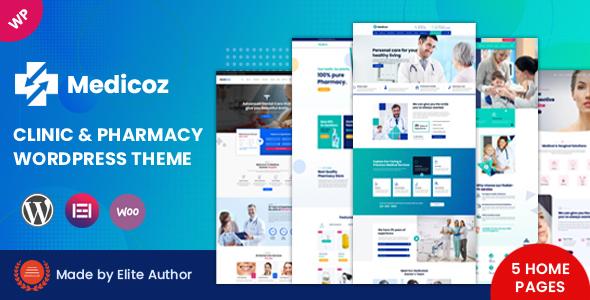 Medicoz - Clinic amp Pharmacy WordPress Theme TFx ThemeFre