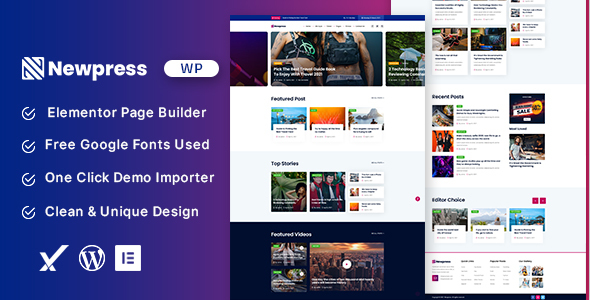 Newpress - Blog Magazine WordPress Theme TFx ThemeFre