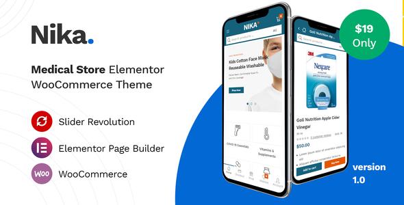 Nika - Medical Elementor WooCommerce Theme TFx ThemeFre