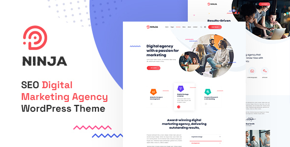 Ninja - SEO amp Digital Marketing WordPress Theme TFx ThemeFre