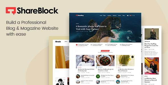 ShareBlock - Magazine amp Blog WordPress Theme TFx ThemeFre