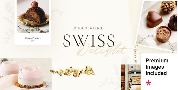 Swiss Delight - Chocolate amp Cake Shop Theme TFx ThemeFre