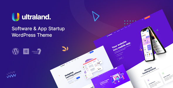 Ultraland - Software amp App Startup WordPress Theme TFx ThemeFre