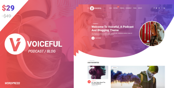 Voiceful - A Podcast  Blogging WordPress Theme TFx ThemeFre