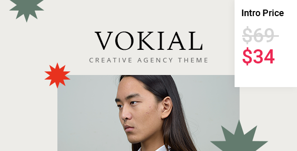 Vokial - Creative Agency Theme TFx WordPress ThemeFre
