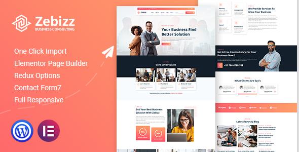 Zebizz - Business Consulting WordPress Theme TFx ThemeFre